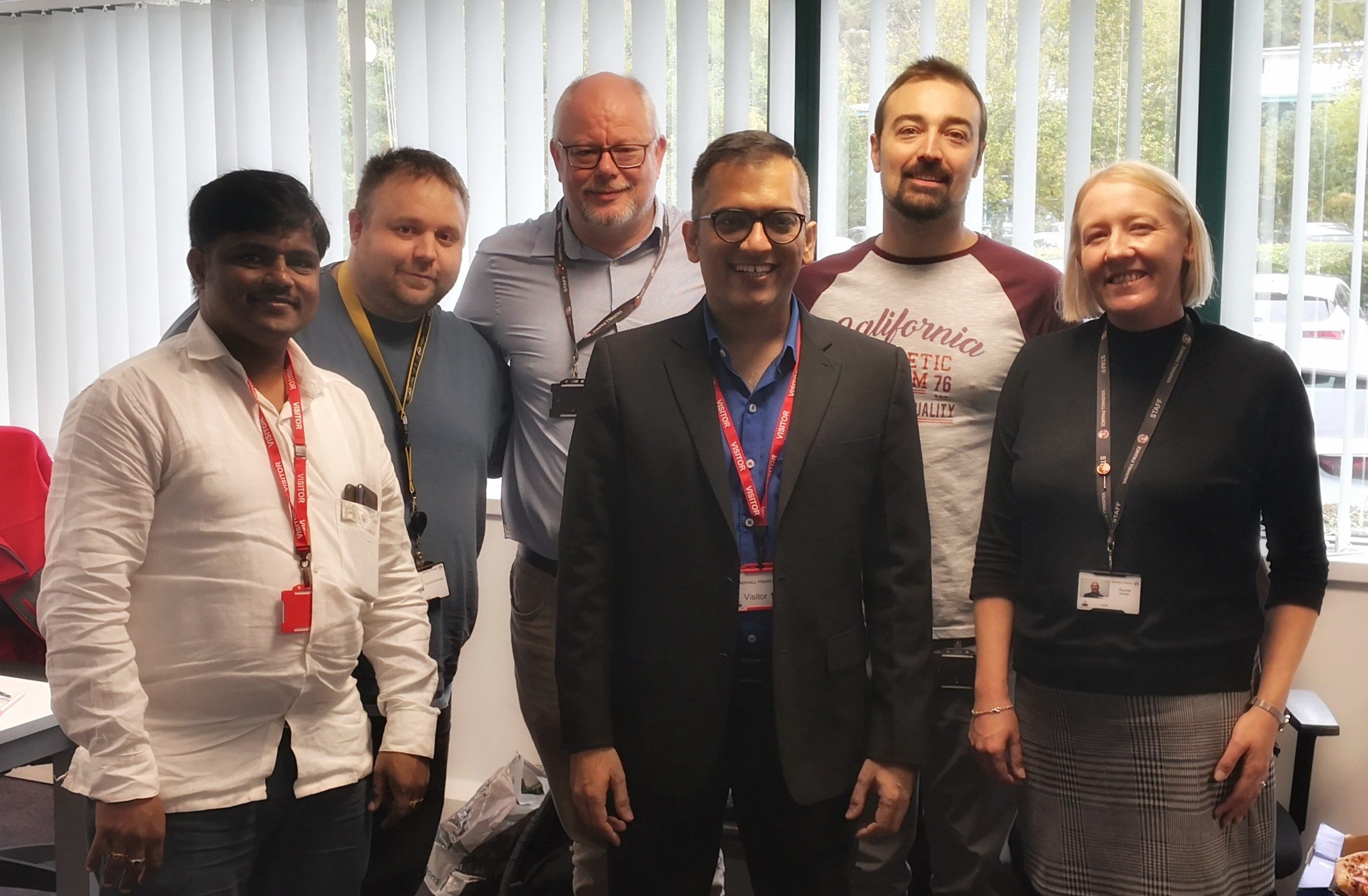Allied CEO Akash Bhat and Operations Lead Rakesh Kumar meet some of the new team